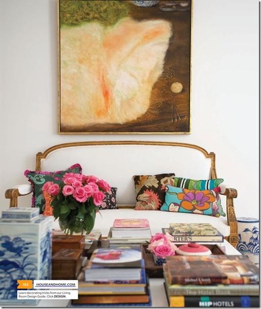 living room floral
